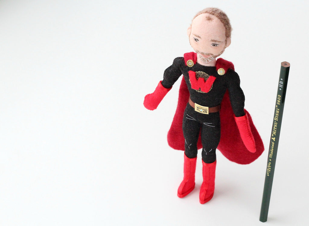 super hero doll for dad by whisper of the pipit