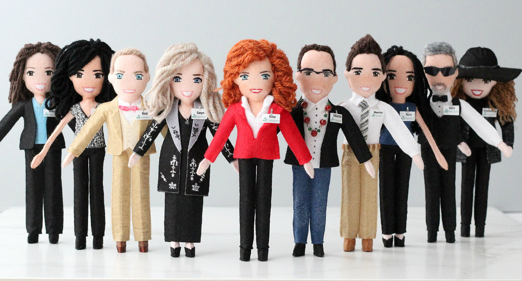 team dolls, dolls of employees, company dolls by malgo amos