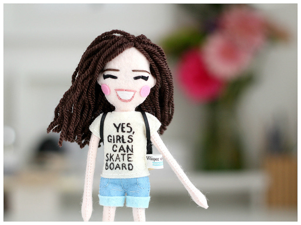 skate boarding doll, whisper of the pipit