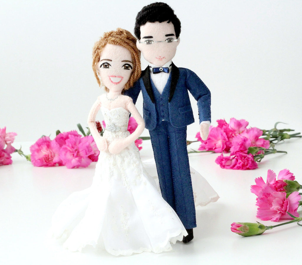personalised wedding dolls cake toppers