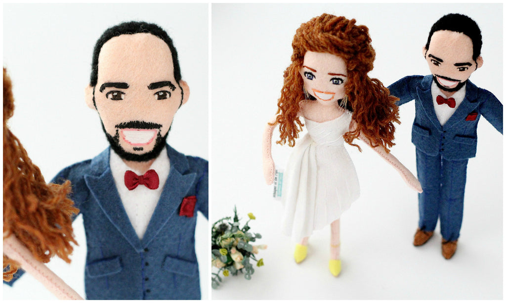 wedding personalised dolls by whisper of the pipit