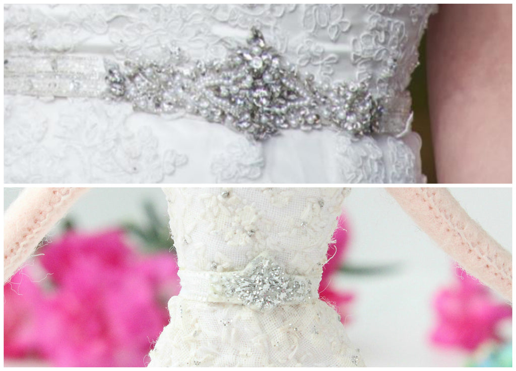 wedding doll jewel belt