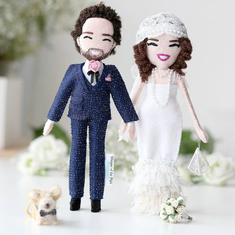 Selfie Dolls in Wedding Outfit (couple)