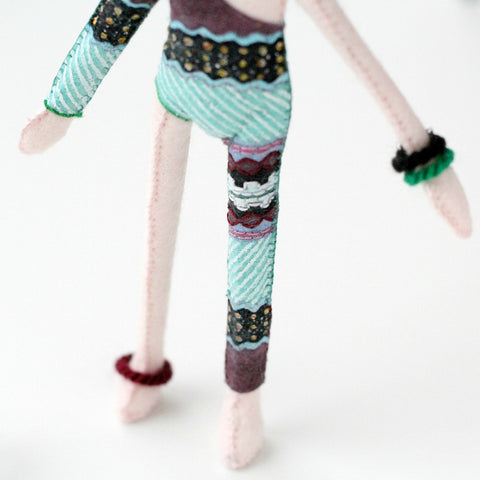 hand-painted outfit of Bowie doll