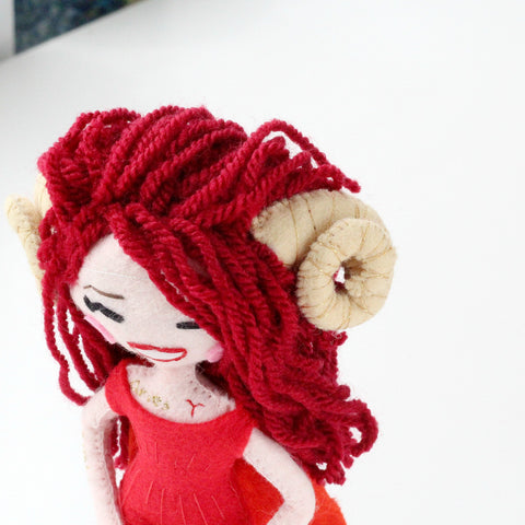 Aries zodiac gift, doll for aries