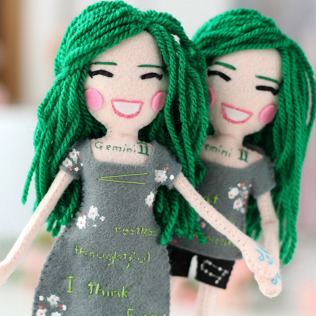 Gemini zodiac dolls, whisper of the pipit dolls, malgo amos