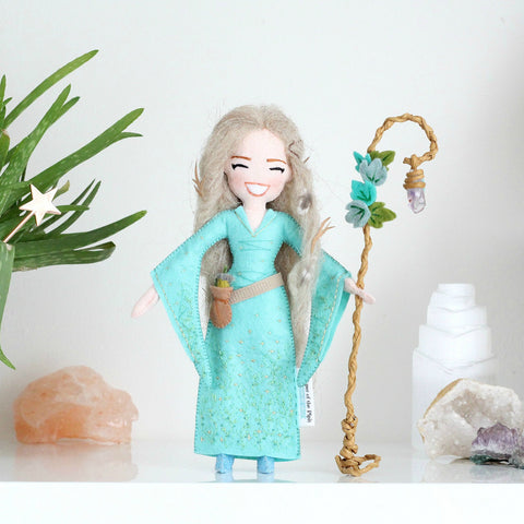 Healer with Amethyst Crystal Staff