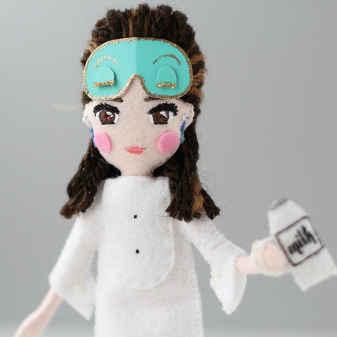 holly golightly doll in mask