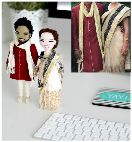 Selfie Dolls (couple) - Ethnic Wedding
