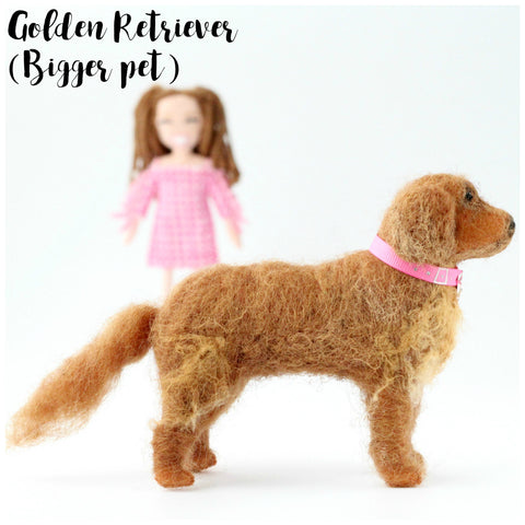 golden retriever pet dog doll