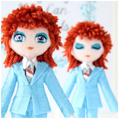 David Bowie Doll - Glam Rock