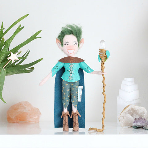Elf with Quartz Crystal Staff