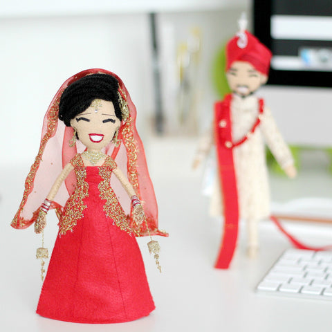 Ethnic Wedding Selfie Dolls (couple)