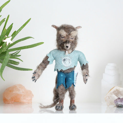 Werewolf with Moonstone Necklace