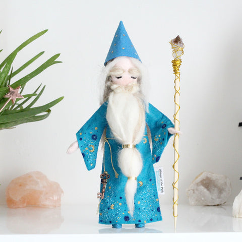 Wizard with Amethyst Crystal Staff