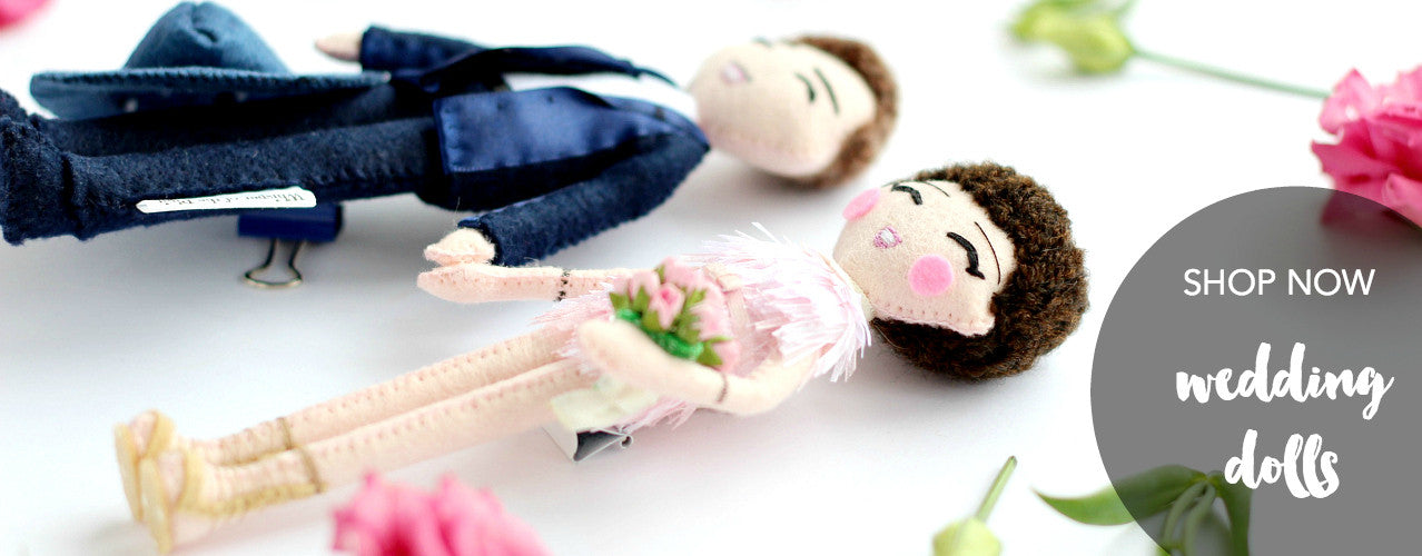 Wedding dolls. Anniversary gift idea. Personalised dolls.