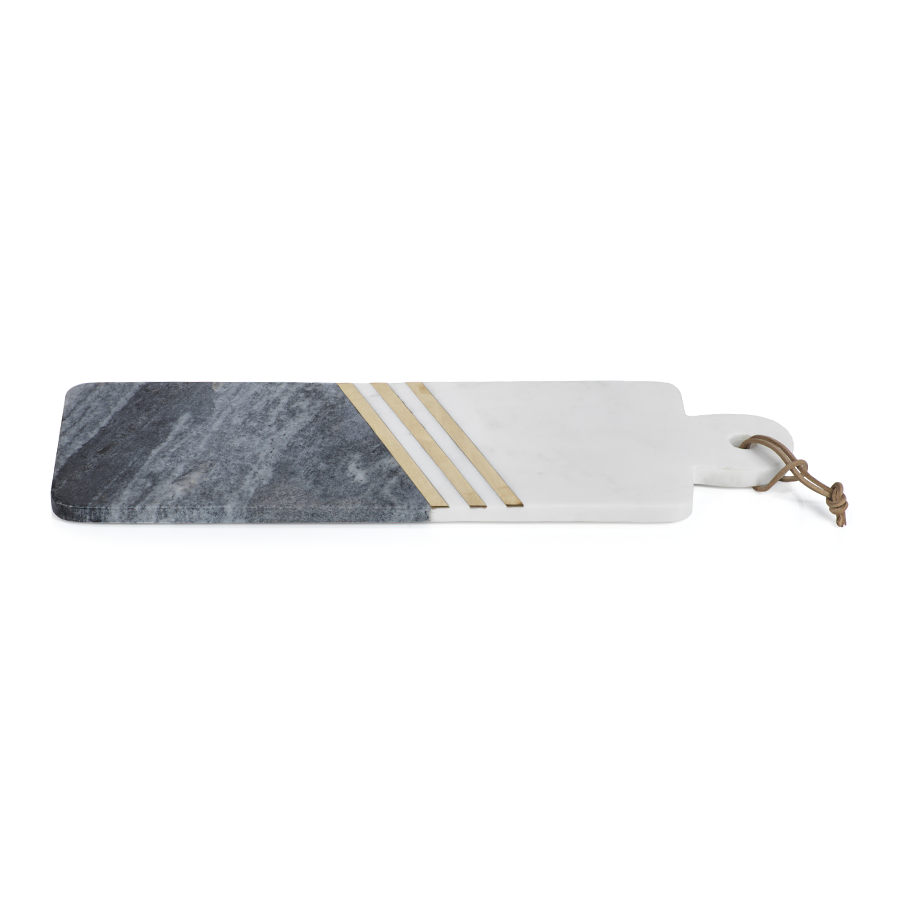 Makrana Two-Tone Marble Cheese Tray