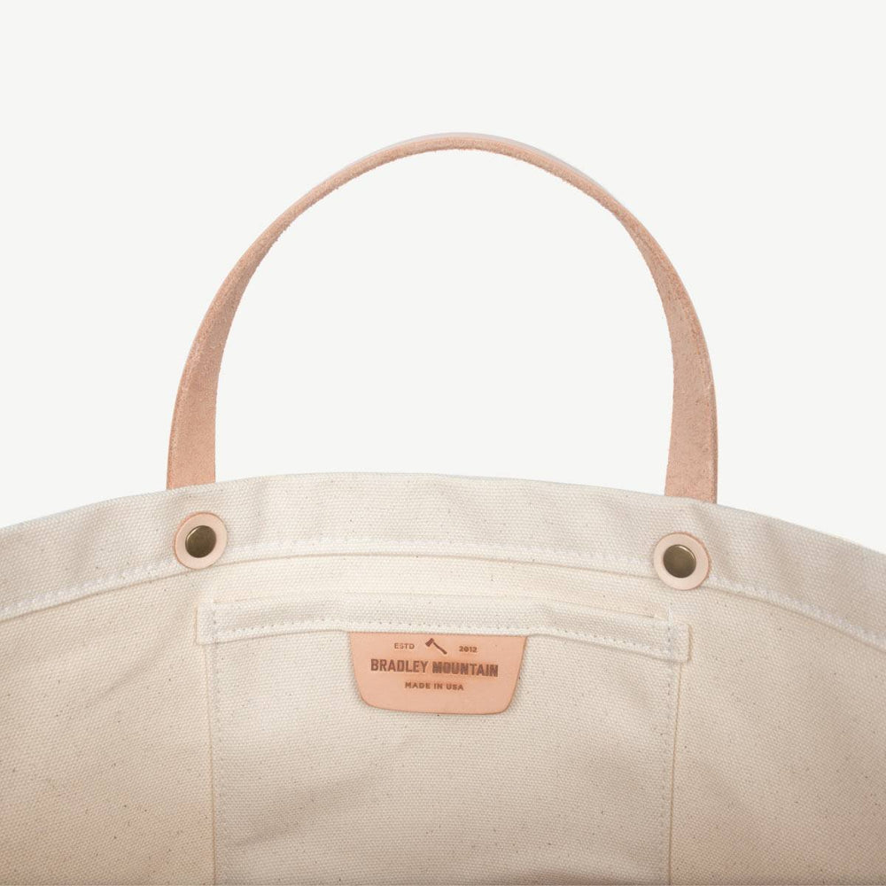 Coal Tote No. 2 - Natural w/ Veg-Tanned
