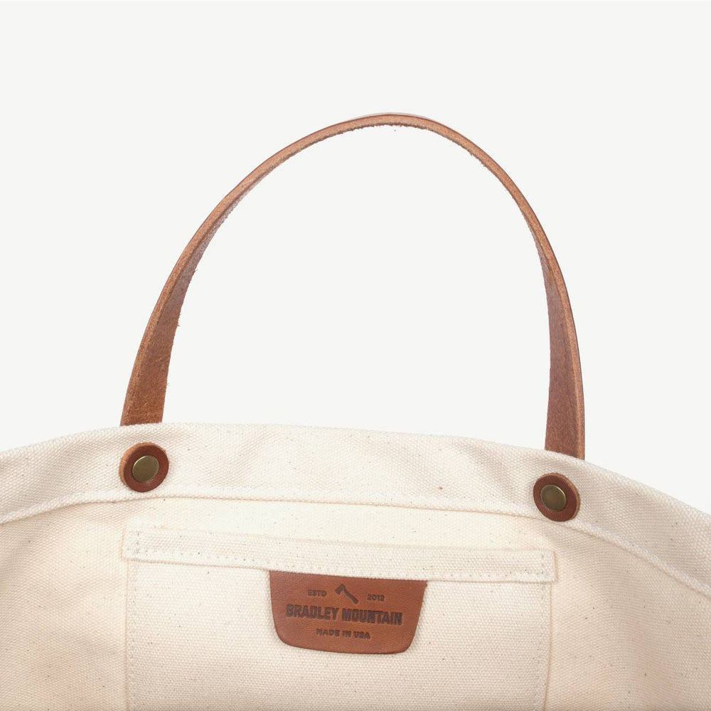 Coal Tote No. 2 - Natural w/ Brown