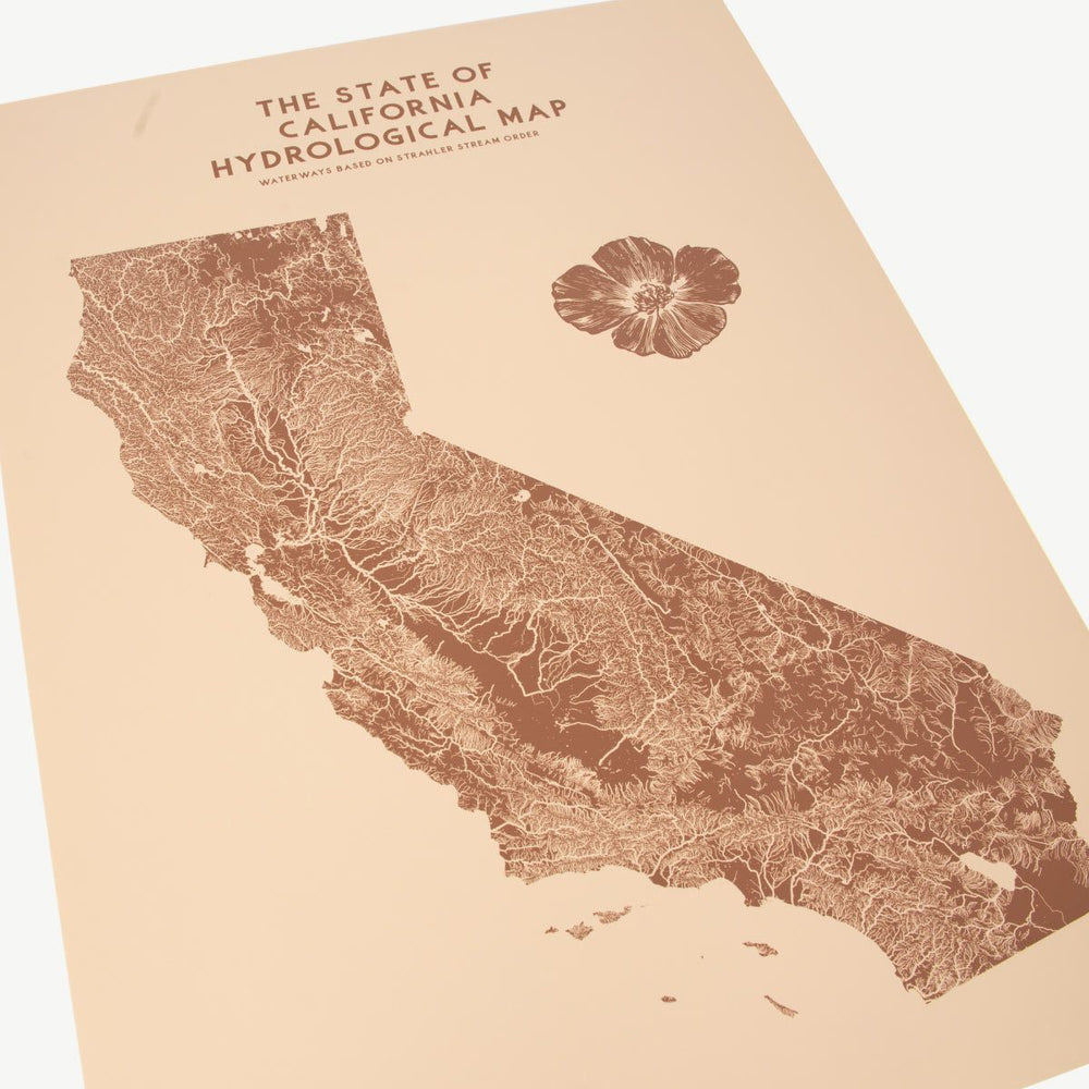 California Hydrological Map