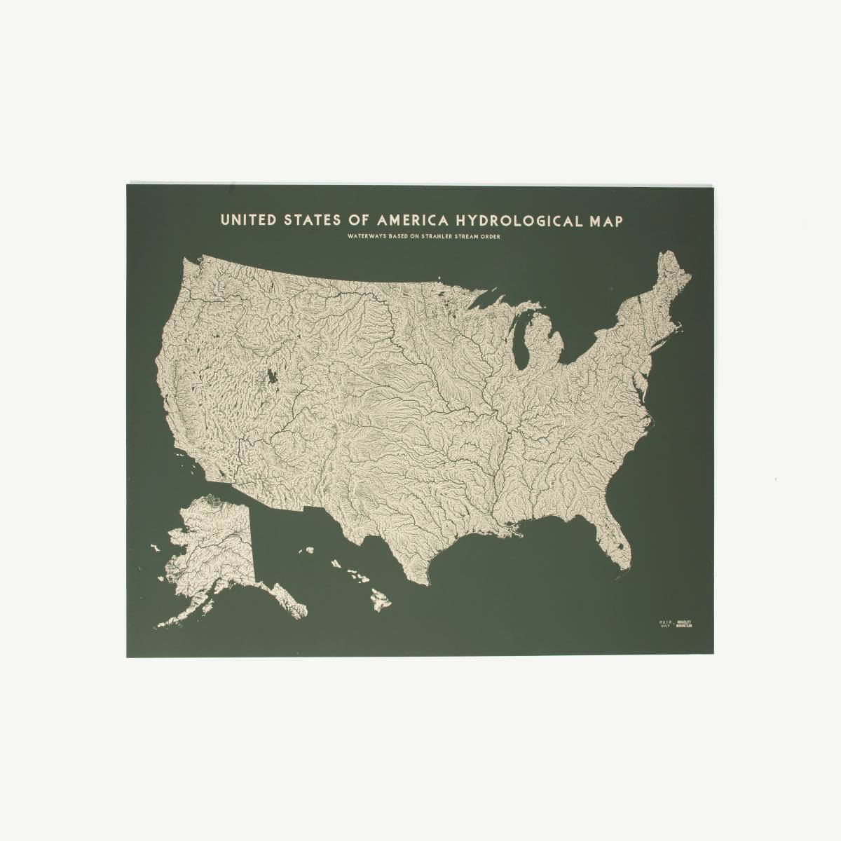 USA Hydrologic Map on map of all beaches in usa, map of lakes in usa, map of mountains in usa,