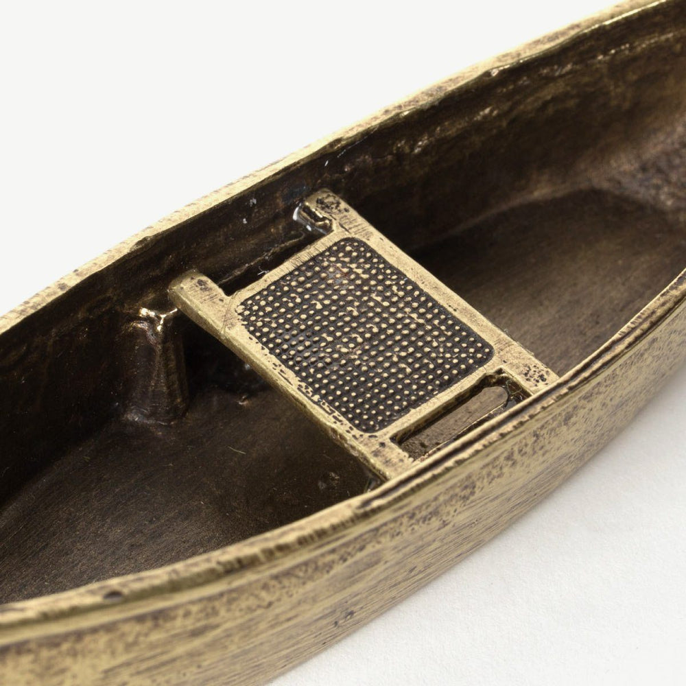 Metal Incense Canoe