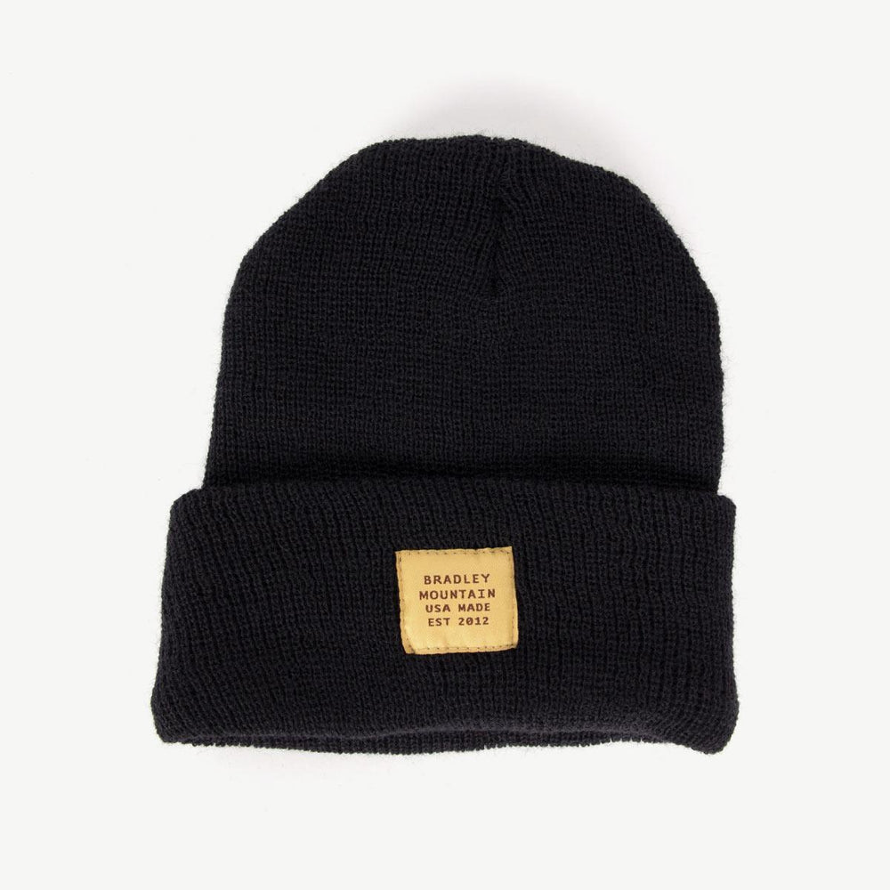 Wool Service Cap - Black Bradley Mountain