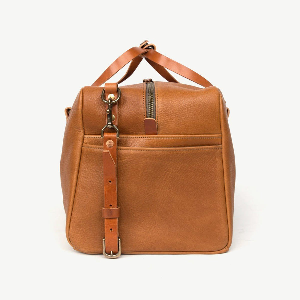 All Leather Square Duffle - Tan