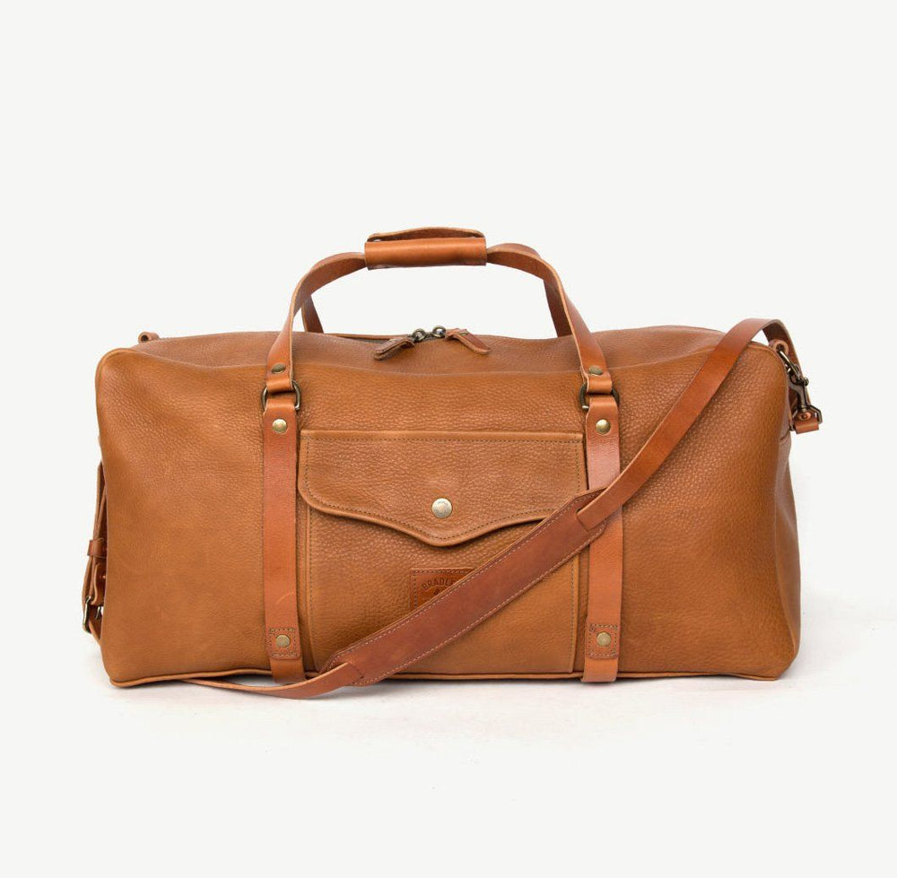 Leather Square Duffle - Tan