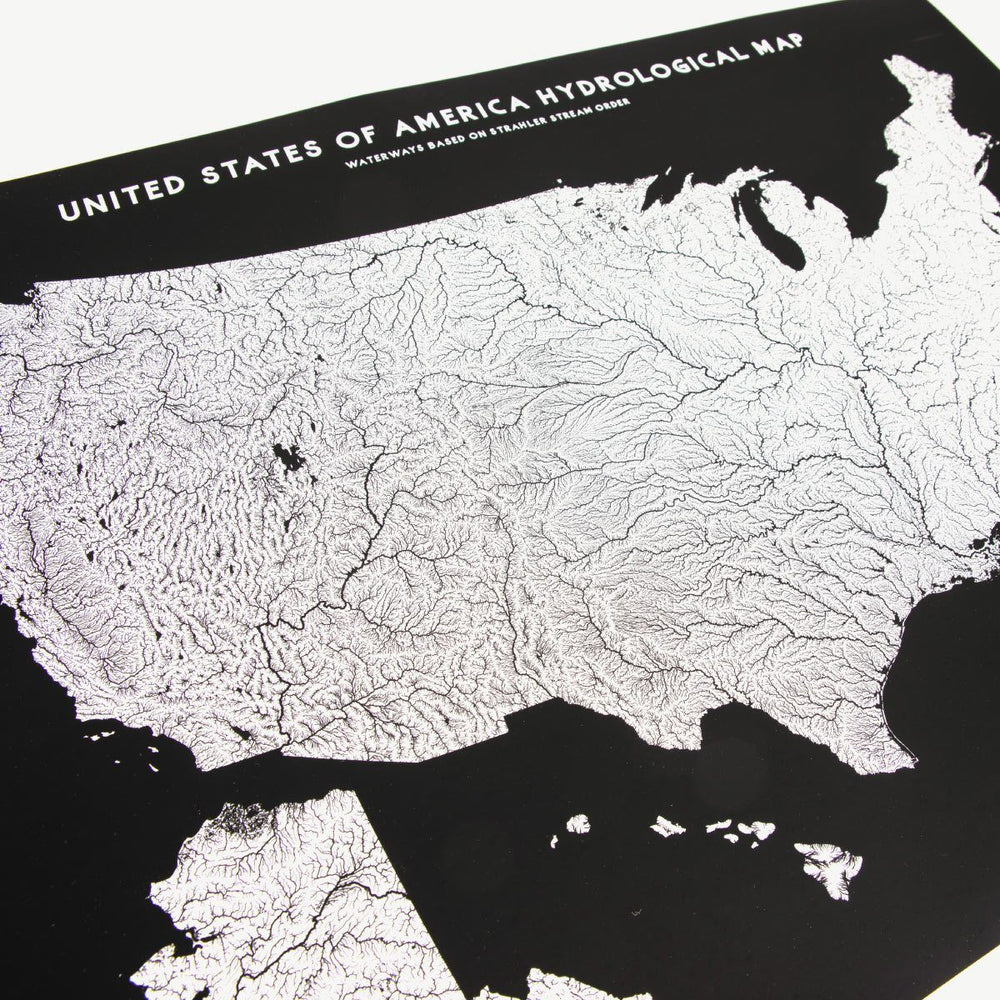USA Hydrologic Map | Black Bradley Mountain