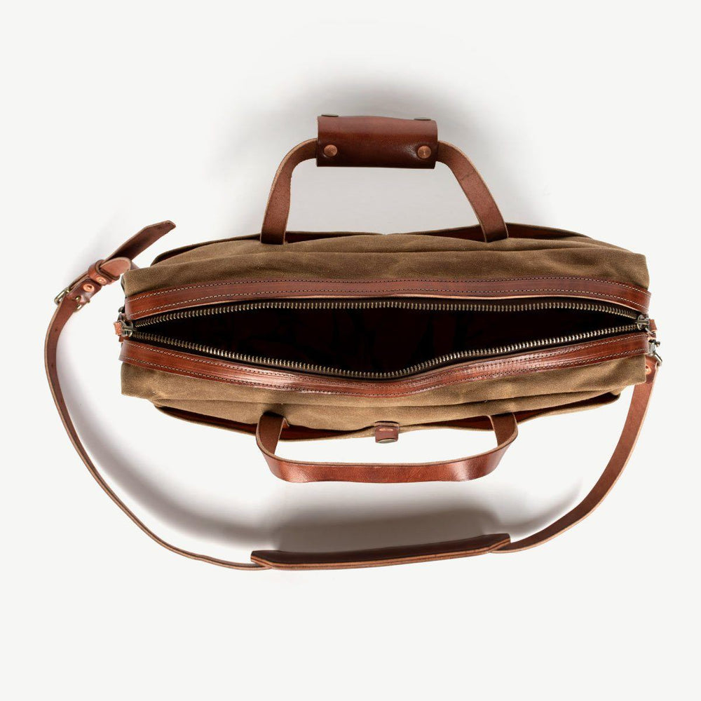 Courier Briefcase - Brush Brown Bradley Mountain