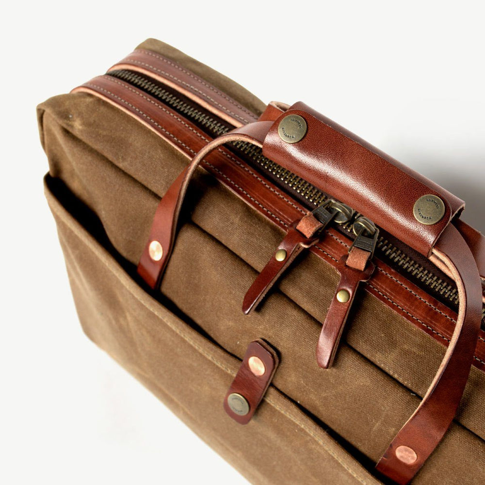 Courier Briefcase - Brush Brown