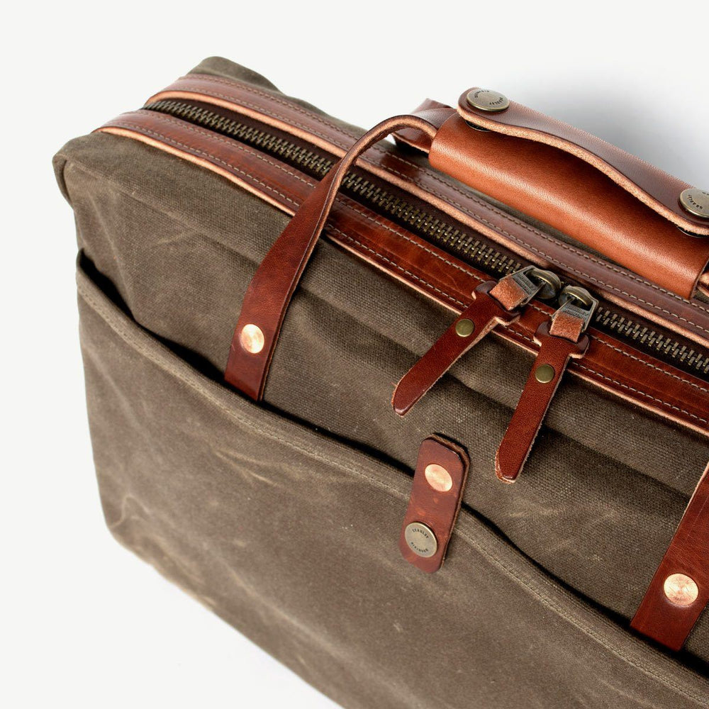 Courier Briefcase - Field Tan