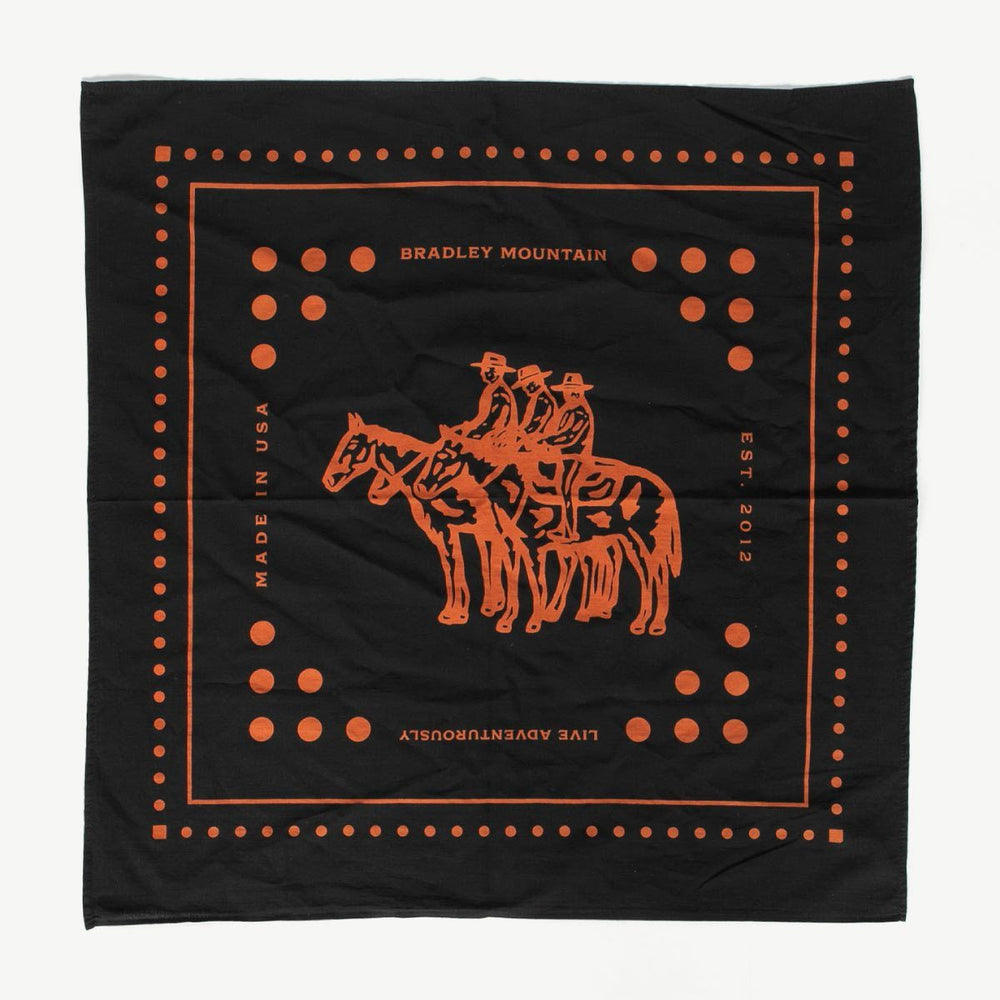 Wrangler Bandana - Japanese Selvedge - Rust Accessories Bradley Mountain