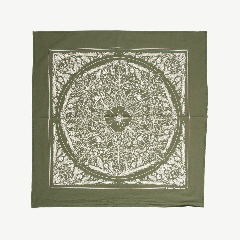Land Bandana - Boyscout Green Selvedge