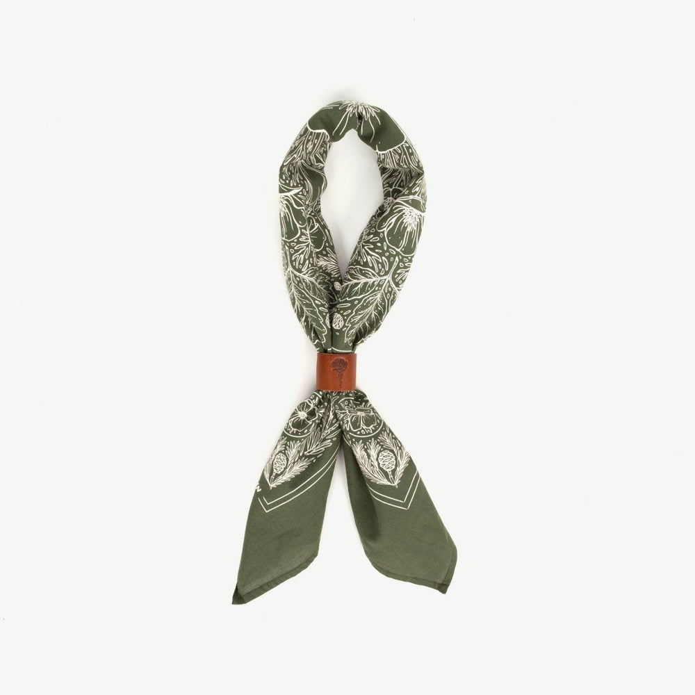 Land Bandana - Japanese Selvedge - Olive Accessories Bradley Mountain