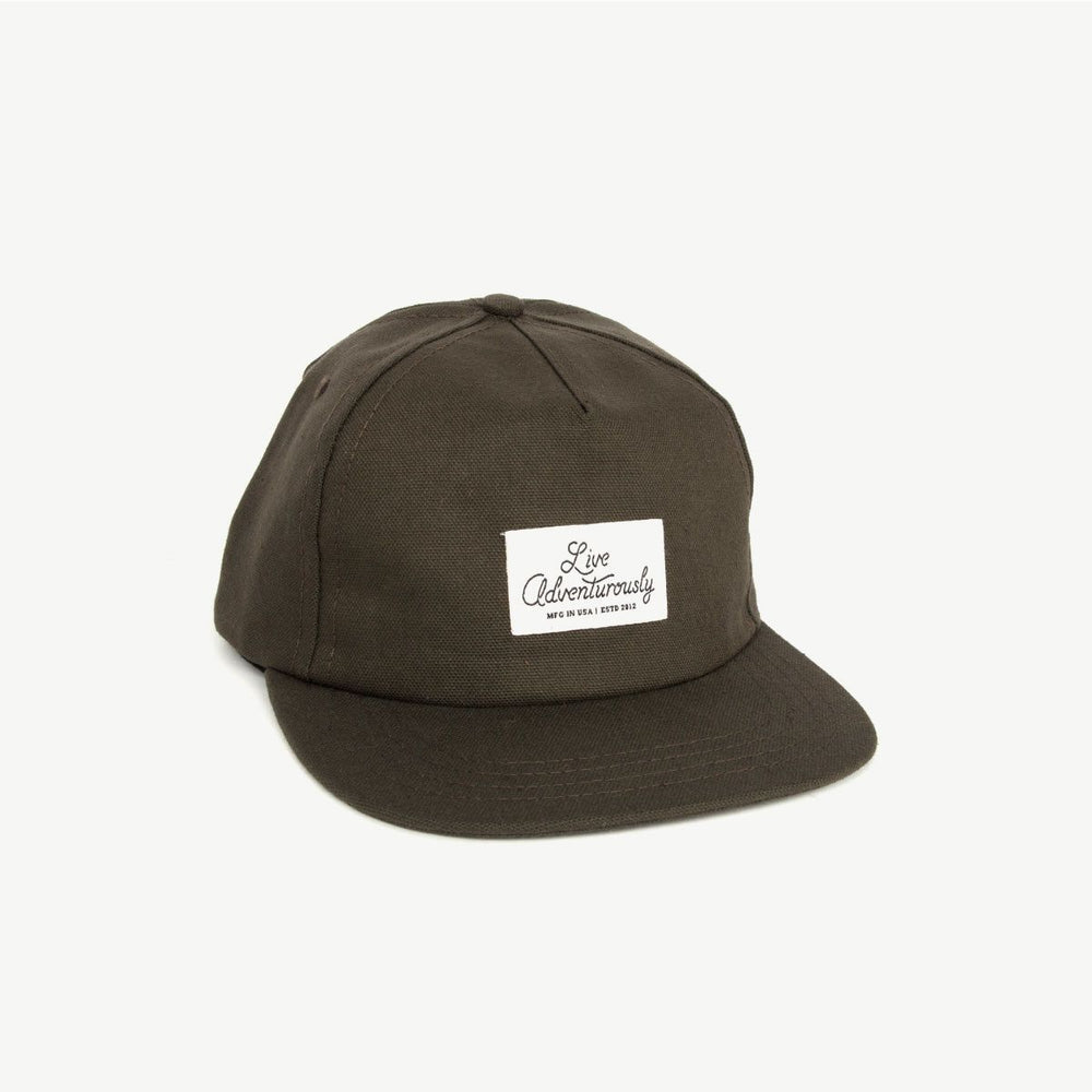 Live Adventurously 5-Panel Hat - Drab