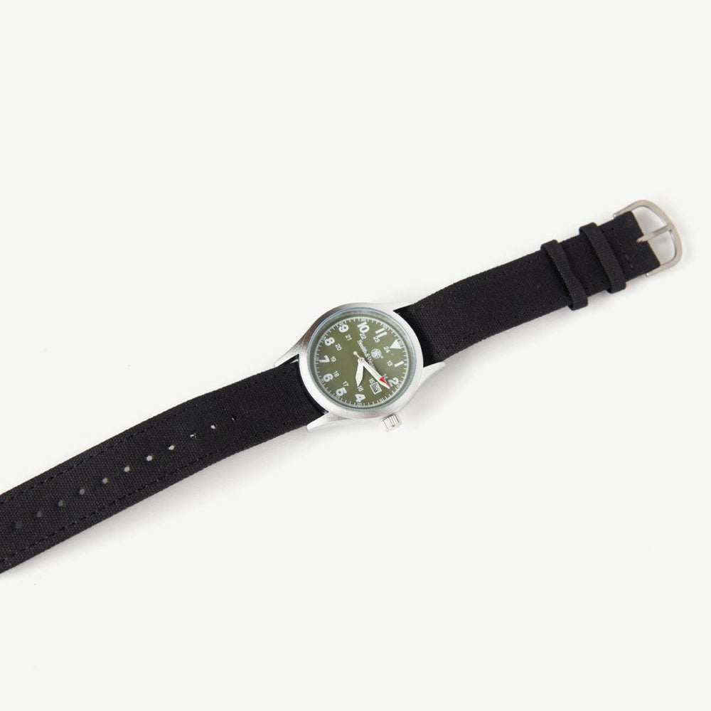 Military Watch - Silver / Drab