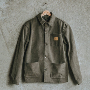 Load image into Gallery viewer, Edison Chore Coat - Stone Washed Olive Bradley Mountain