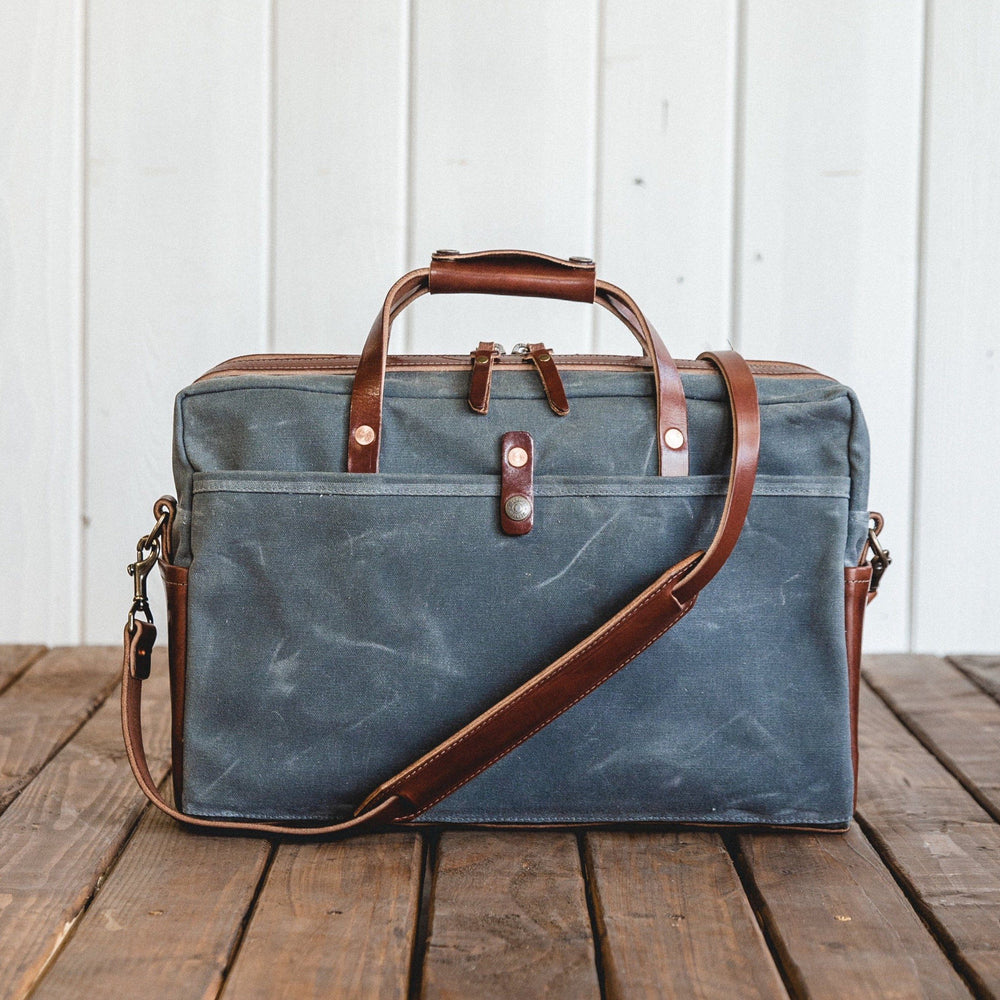Courier Briefcase - Charcoal Bradley Mountain