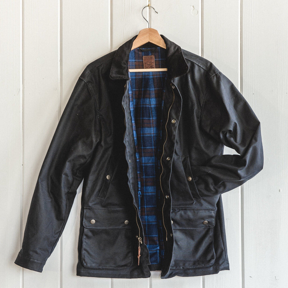 Field Jacket - Waxed Black Bradley Mountain