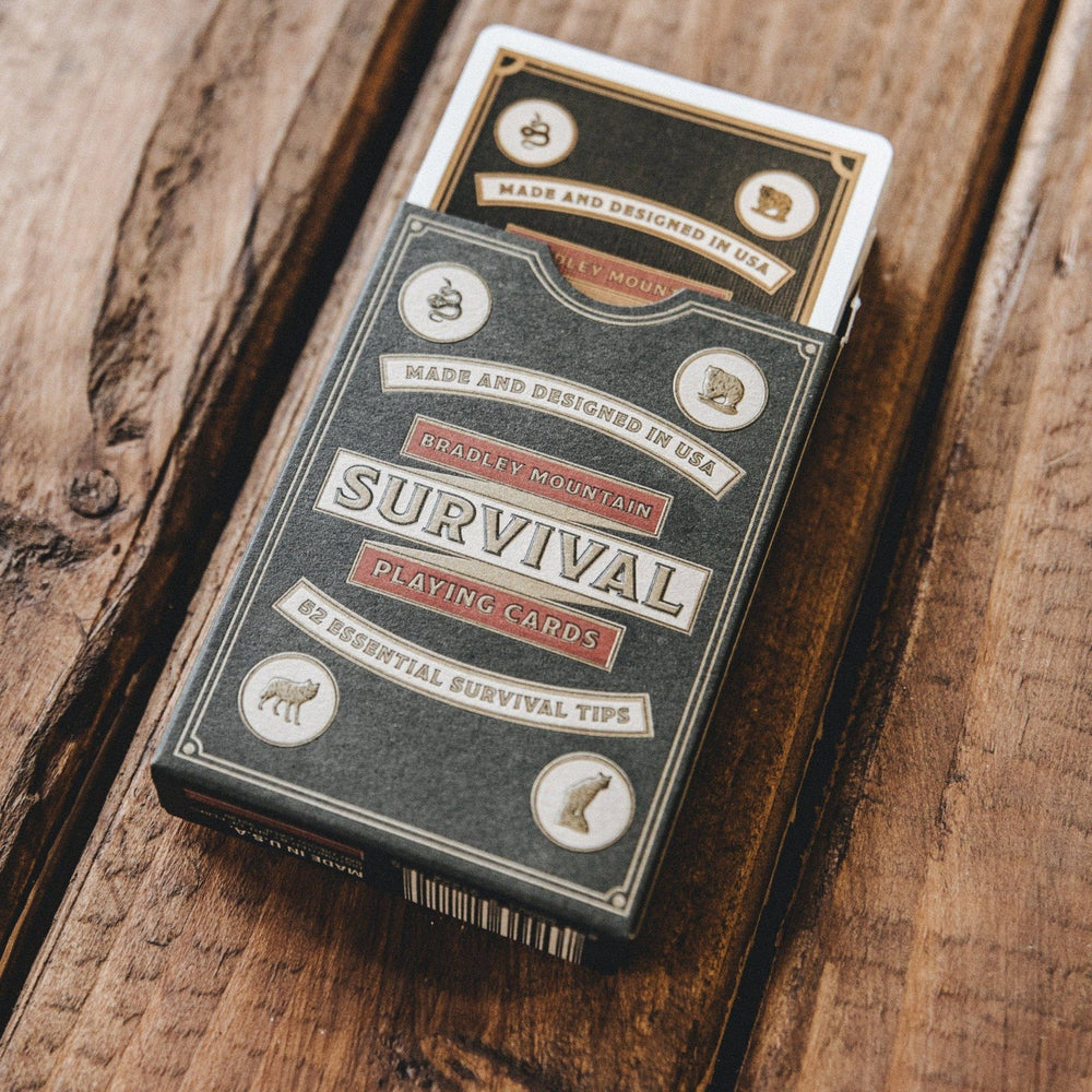 Survival Playing Cards Bradley Mountain