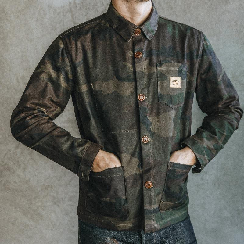 Edison Chore Coat - Waxed Camo Bradley Mountain