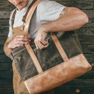 Load image into Gallery viewer, Heritage Tote - Field Tan Bradley Mountain