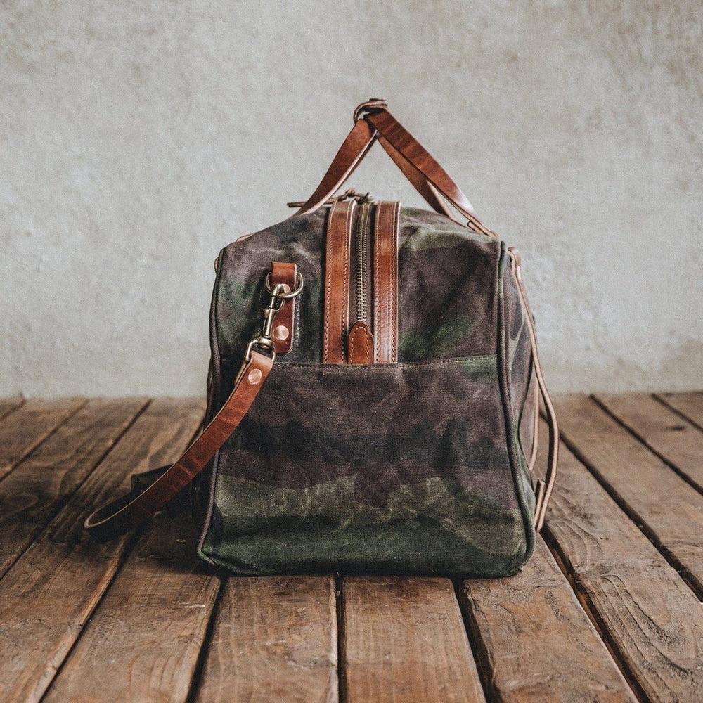 The Ranger - Waxed Camo Bag Bradley Mountain