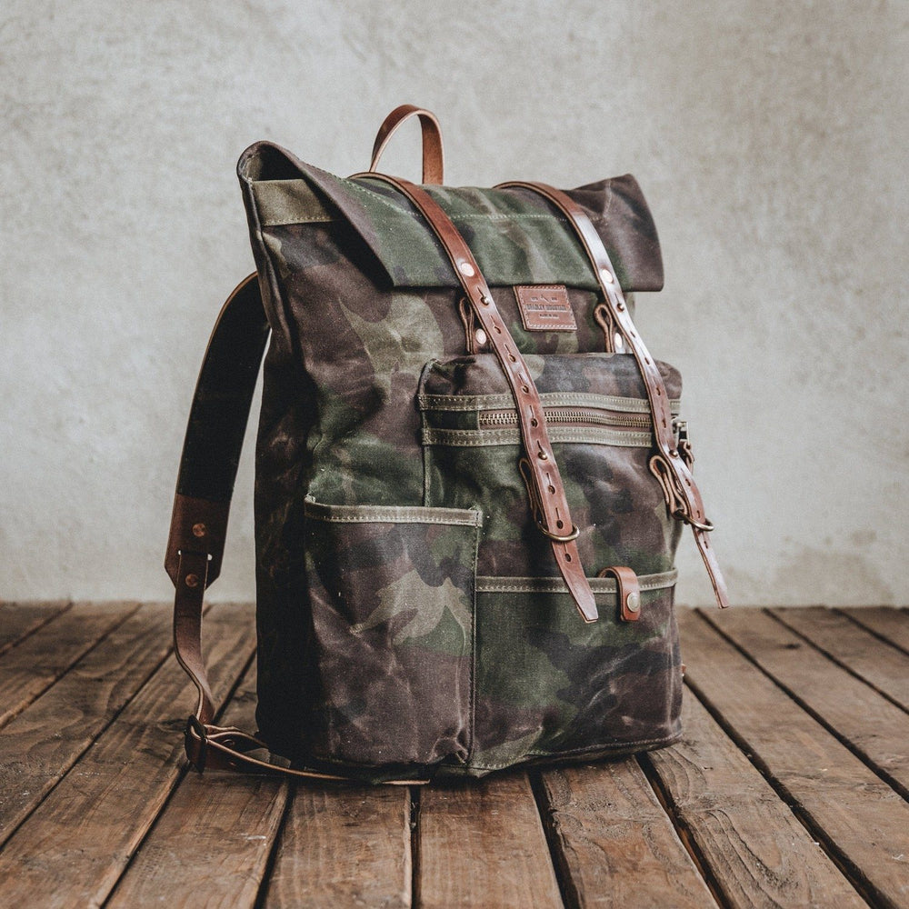 The Wilder - Waxed Camo Bag Bradley Mountain