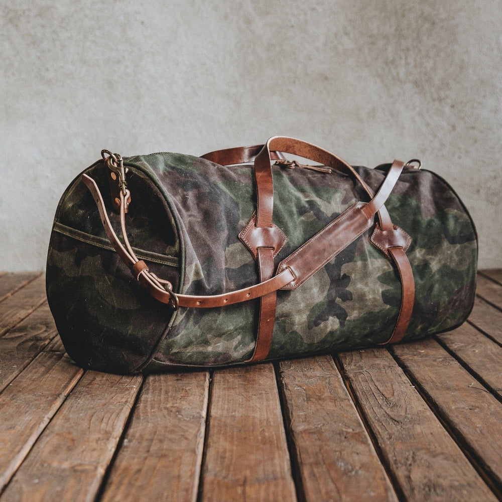 The Rambler - Waxed Camo Bag Bradley Mountain
