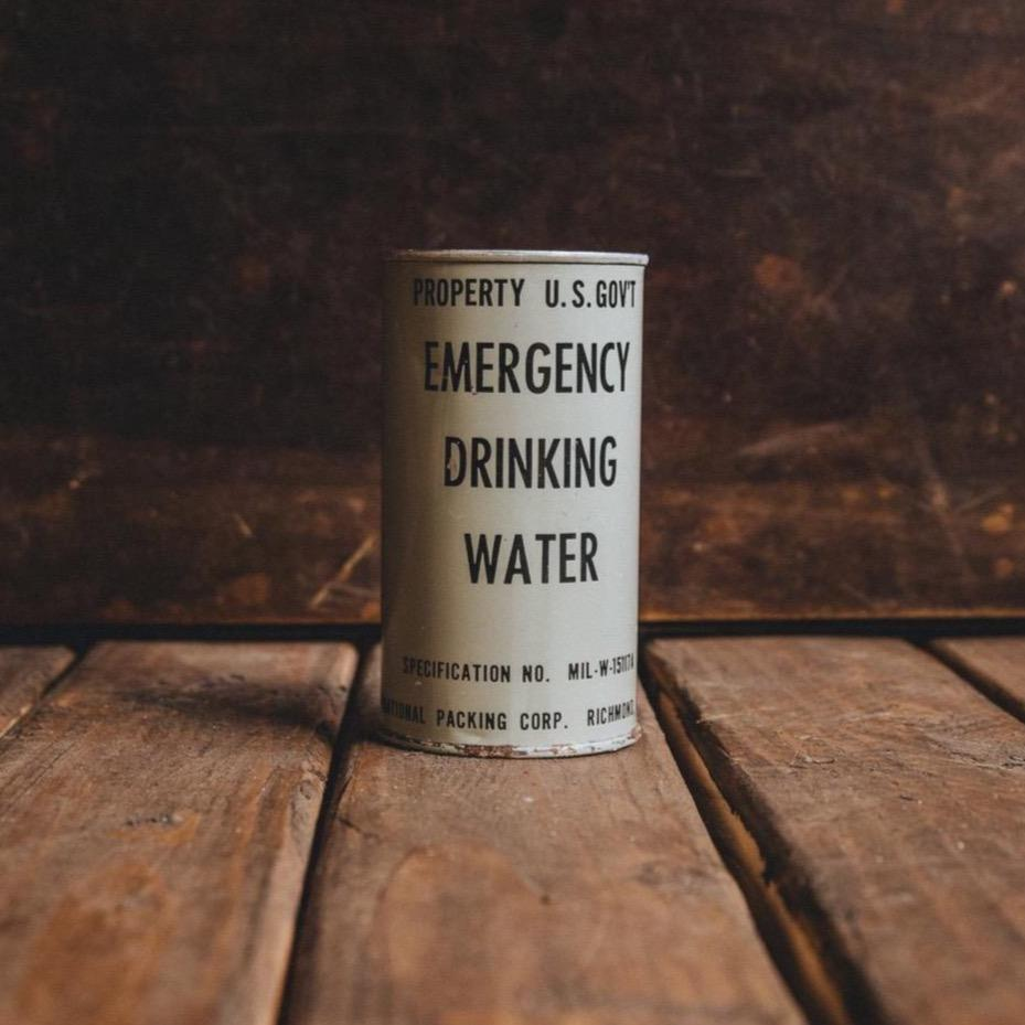 Emergency Drinking Water Can Candle - Black Sea Bradley Mountain