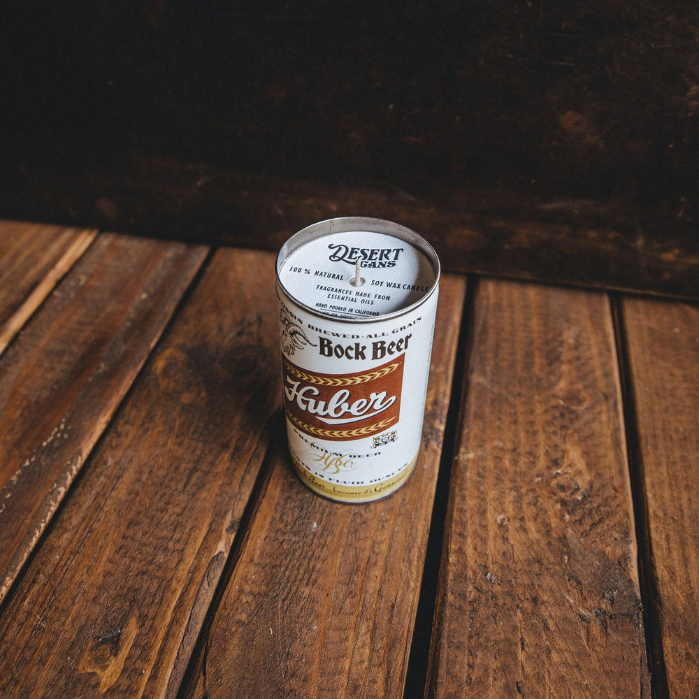 Huber Rock Beer Can Candle - Teakwood Shores Bradley Mountain