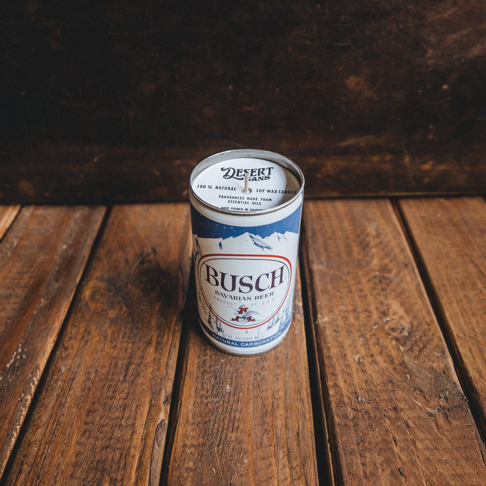 Bush Beer Can Candle - Desert Amber Bradley Mountain